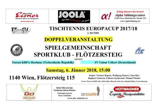 SKFL Ankündigung Intercup Jan 2018